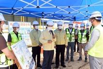 안병용 의정부시장, 여름철 대비 공사현장 실태 점검
